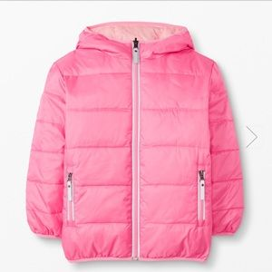 Hanna Andersson Reversible Down Jacket Pink